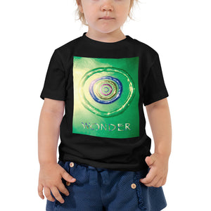 Our Wonder card design in a quality black toddler t shirt