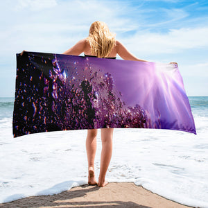 "Bath/Beach Towel<br /> ""Seventh Ray"""