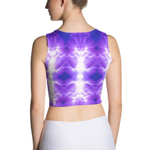 Load image into Gallery viewer, Tribe desing sports bra is a popular and comfortable purple design.