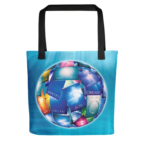 A spacious tote bag featuring our popular