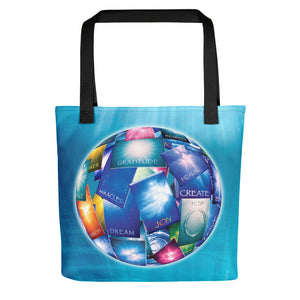 "A spacious tote bag featuring our popular ""Wishing Ball"" design."