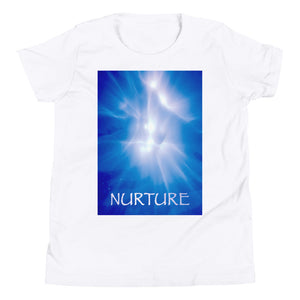 "Kid's T shirt printed with a unique and vivid ""Nurture"" design. Beautiful underwater photography."