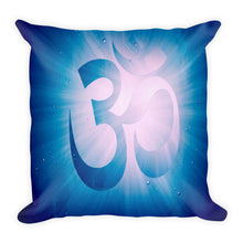 "Load image into Gallery viewer, Premium Pillow<br />""Gratitude OM"""