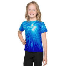 Load image into Gallery viewer, Living Light Designs presents 'Feather Light' Design on a unique all over printed Kids T Shirt