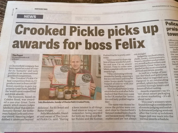 Two Great Taste Awards for the Crooked Pickle Co.