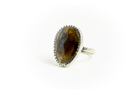 Labradorite Smoky Ring