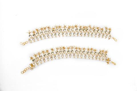 Pearl and Kundan Anklet
