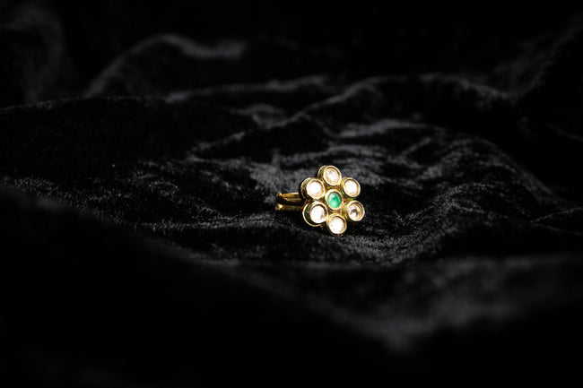 Green Flower Ring