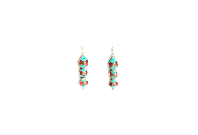 Colorful Marble Earrings
