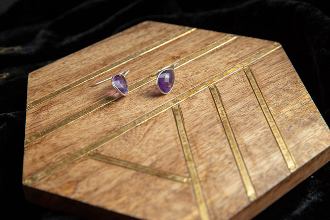 Purple Amethyst Earring