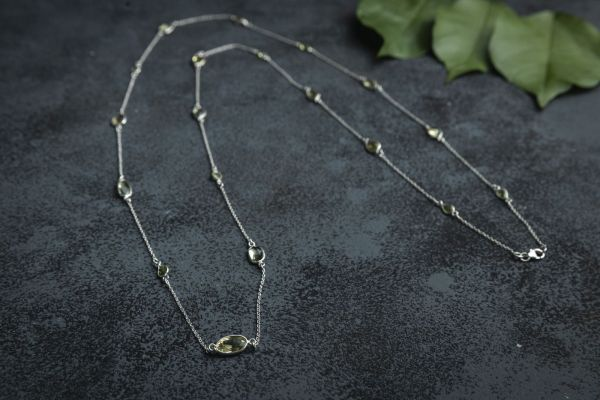 Lime Gem Necklace
