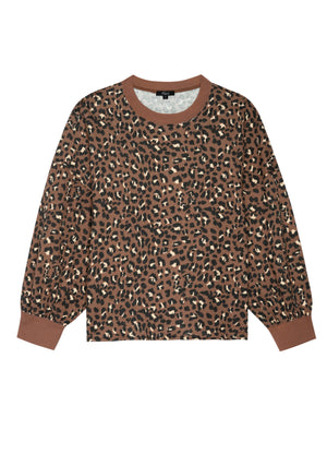 Reeves Knit Sweater in Mountain Leopard