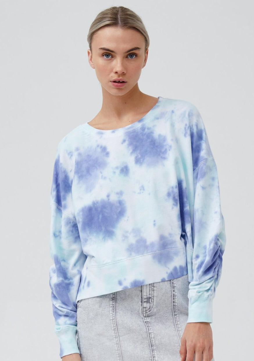 Jac+Mooki Lana Crop Sweater in Miami Tie Dye