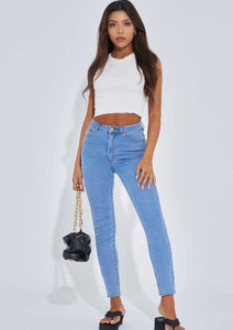 Abrand High Skinny Ankle Basher Jeans in La Blues