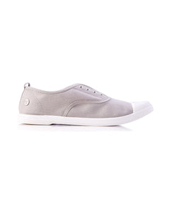 Walnut Melbourne Euro Canvas Plimsole Sneakers in Grey