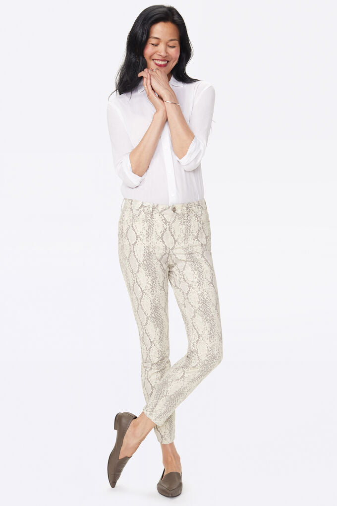 Ami Skinny  in Sateen DiamVanilla Animal Print