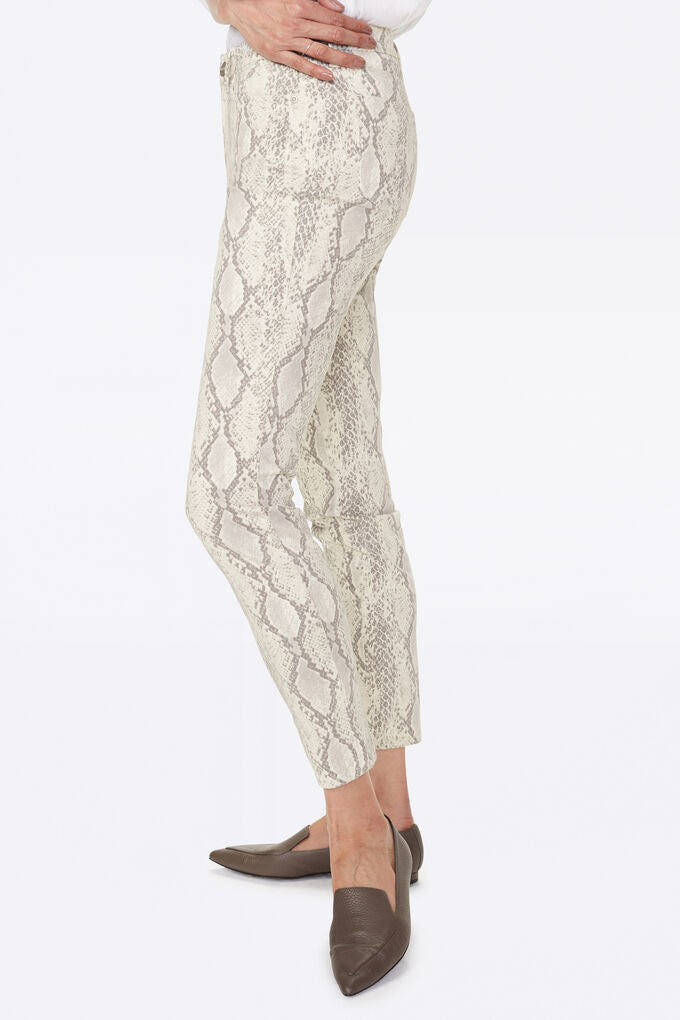 NYDJ Ami Skinny in Sateen Vanilla Animal Print