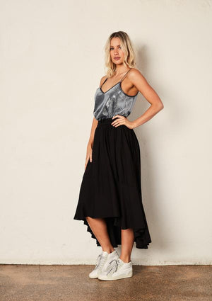 The Others Full Circle Skirt in Black