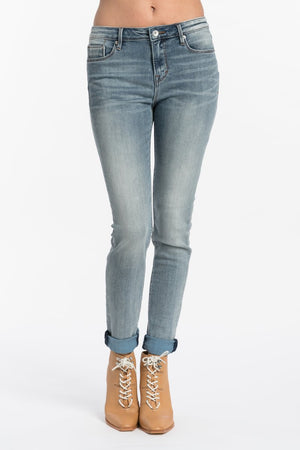 Gypsy High Rise Skinny Jeans in Light Sand