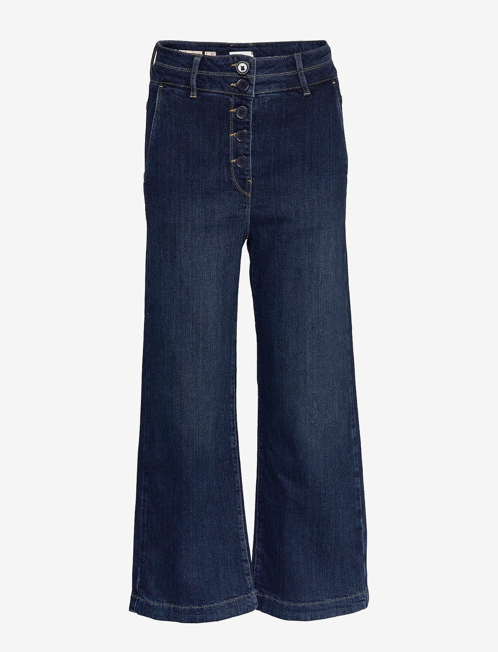 Worn Trousers in Denim Dark Blue