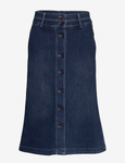 Worn Skirt in Denim Dark Blue