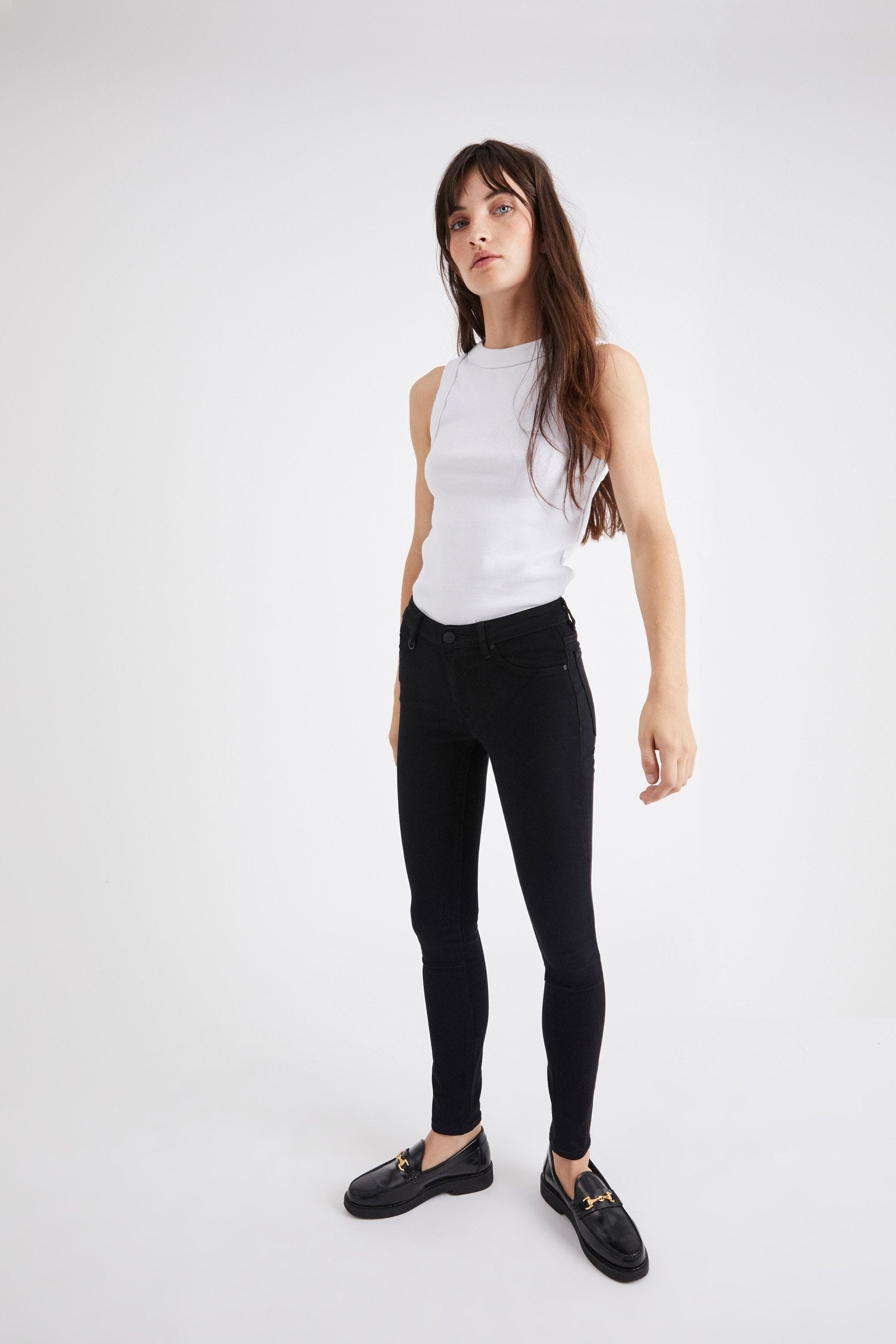 NEUW Bowery Skinny Jean in Black Silk 32""