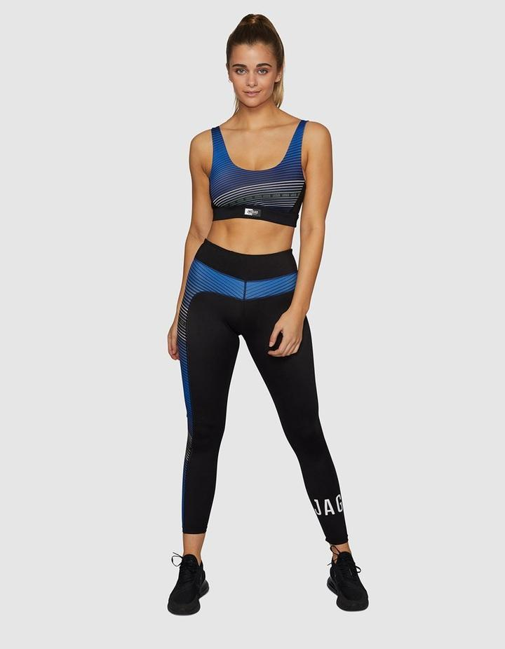 Jaggad Linear Full Legging in True Blue