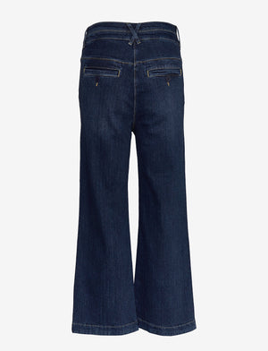 Noa Noa Worn Trousers in Denim Dark Blue
