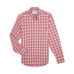 Stretch Plaid Collared Shirt