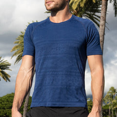 Navy Performance T-shirt (4 way stretch)