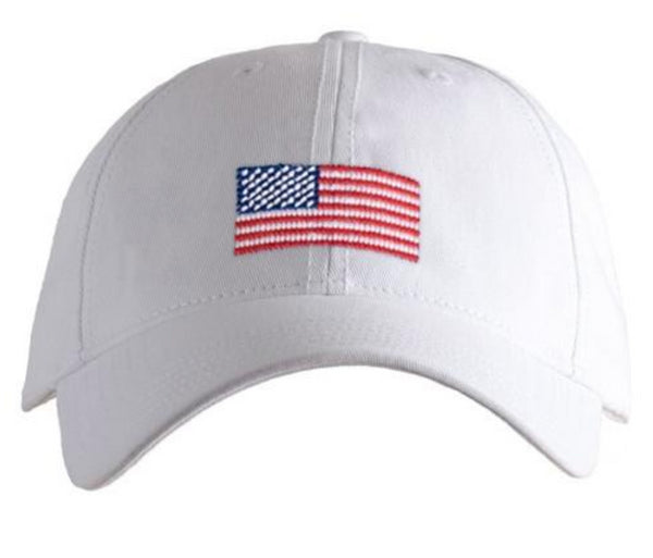 fe37cba9 American Flag Dad Hat- White