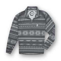 Grey Tonal Aztec Quarter Zip