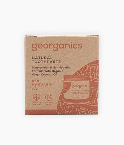 Dentífric natural taronja -ideal infants- (60 ml) - Georganics | Tarannà Cosmetica Natural