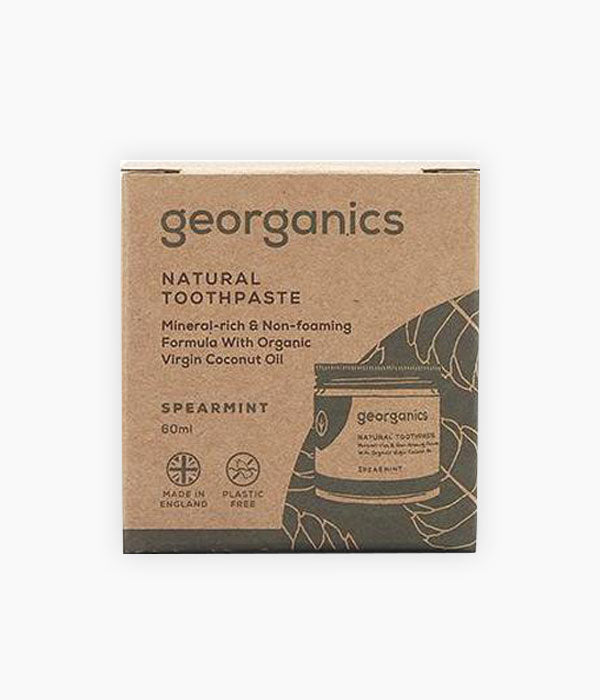 Dentífric natural menta Spearmint (60 ml) - Georganics | Tarannà Cosmetica Natural