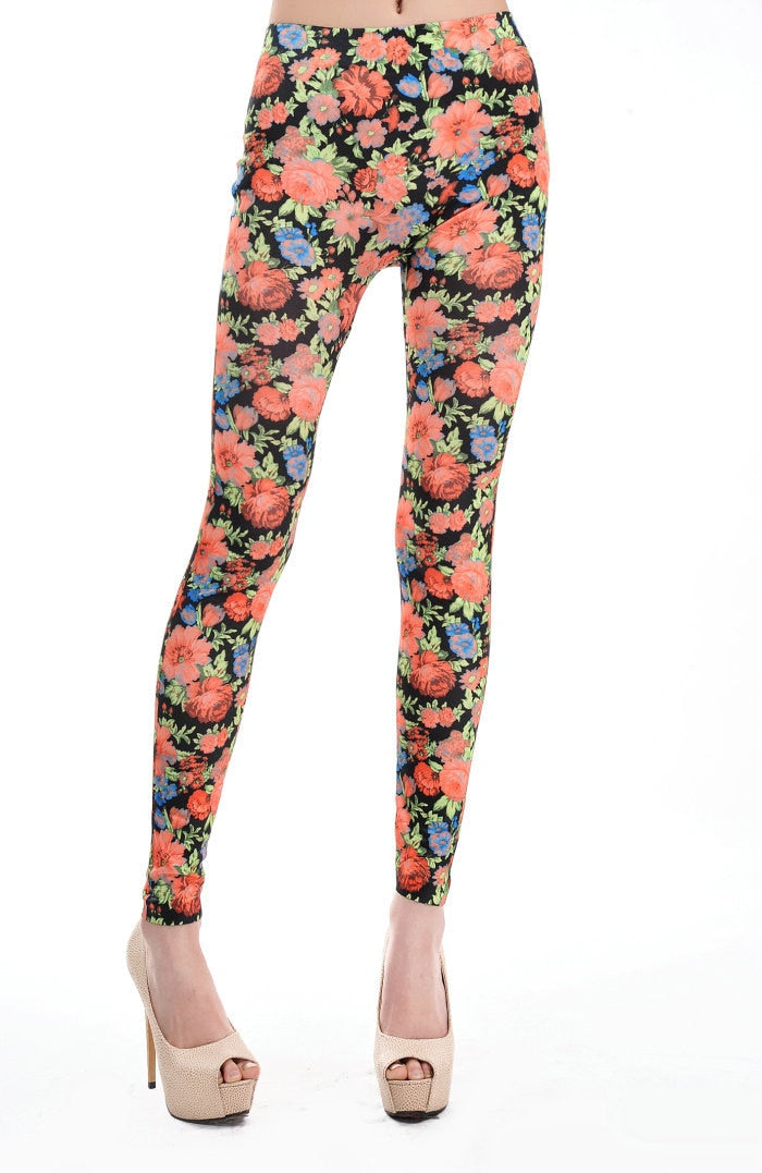 Hot Floral Printed Leggings