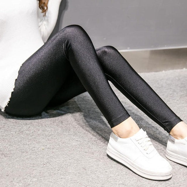 Casual Black Slim Winter Leggings