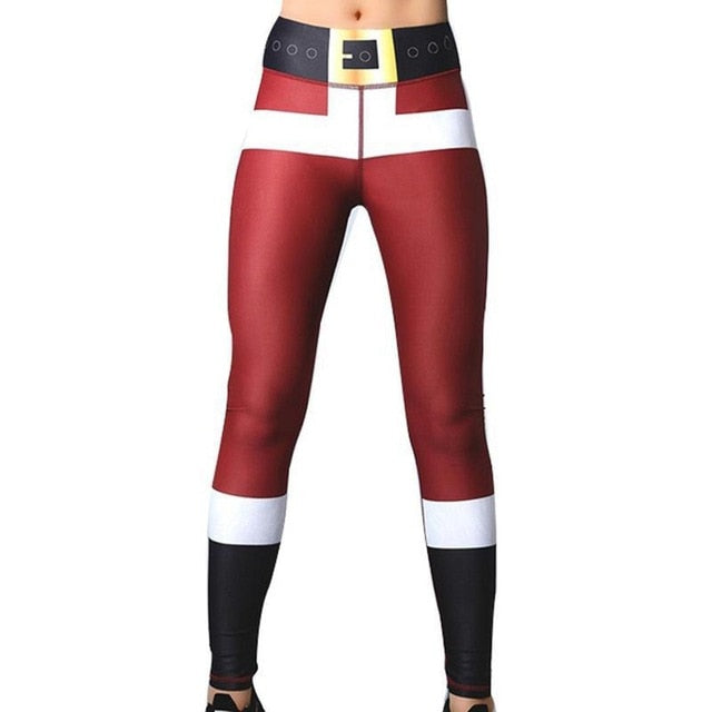 All Red Leggings Black Waist