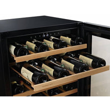 Load image into Gallery viewer, Swisscave Black Edition Dual Zone Wine Cooler WLB-160DF (40-50 Bottles)-Swisscave-ChillingWine