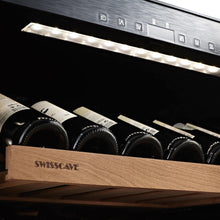Load image into Gallery viewer, Swisscave Black Edition Dual Zone Wine Cooler WLB-460DFLD with Gastro Furnishing (124-210 BOT)-Swisscave-ChillingWine