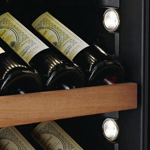 Swisscave Black Edition Dual Zone Wine Cooler WLB-460DFLD with Gastro Furnishing (124-210 BOT)-Swisscave-ChillingWine