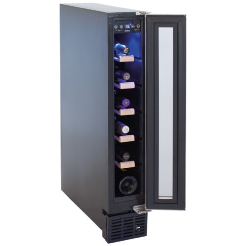 Available 21st Dec 20 when the new model will be a 7 bottle capacity AWC151SS/BL Freestanding/ under counter slimline wine cooler-Amica-ChillingWine