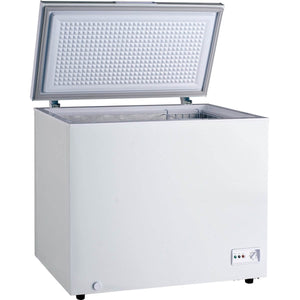 Chest freezer with 282L internal capacity.