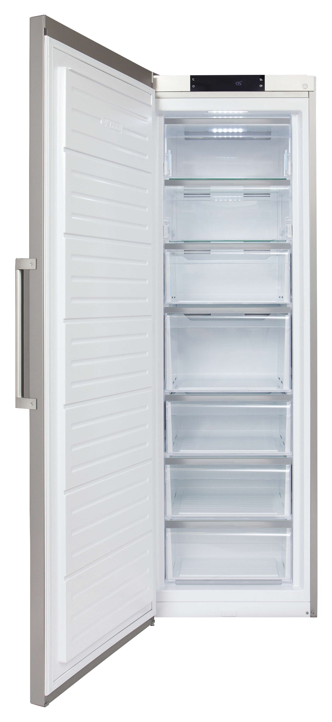Amazing full height freestanding tall freezer with 7 compartments and 280L capacity-CDA-ChillingWine