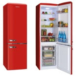 Amica FKR29653R  Red Fridge Freezer