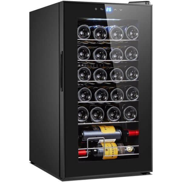 Wine Cooler with sensitive soft touch control and 24 bottle capacity