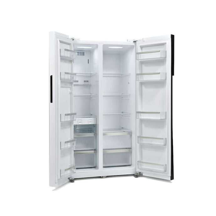 Offer available - Side-By-Side Fridge Freezer Montpellier No Shipping Charge M510BW-Montpellier-ChillingWine