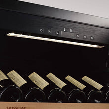 Load image into Gallery viewer, Save TODAY & Zero Delivery Charges SWISSCAVE dual zone WLB-460DF wine fridge from the Black Edition series