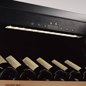 Save TODAY & Zero Delivery Charges SWISSCAVE dual zone WLB-460DF wine fridge from the Black Edition series