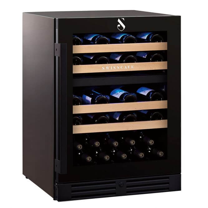 Save today New WL155DF Swisscave 2 zone wine cooler - 40-50 capacity