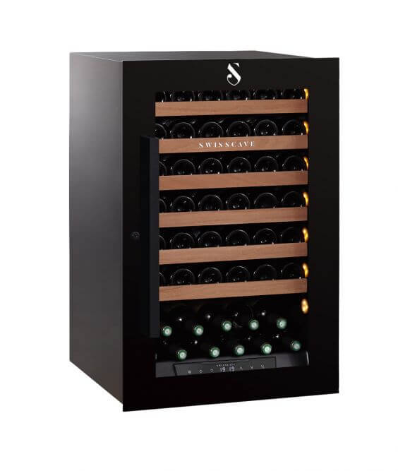 Swisscave single zone WLI-160F wine chiller housing up 48 bottles